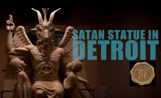 satan statue detroit Capture