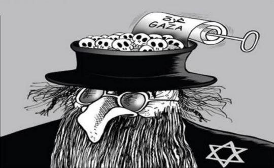 anti semitic cartoon Capture