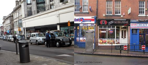 taxi rank and takeaways Capture