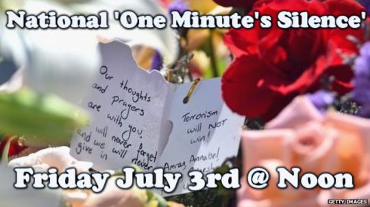one minutes silence tunisia imagebot