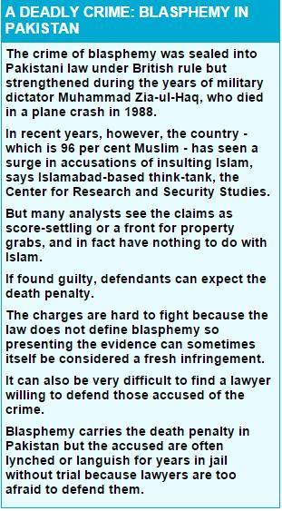blasphemy in pakistan Capture
