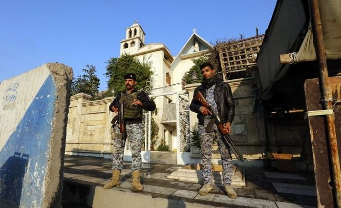 guarding baghdad church Capture