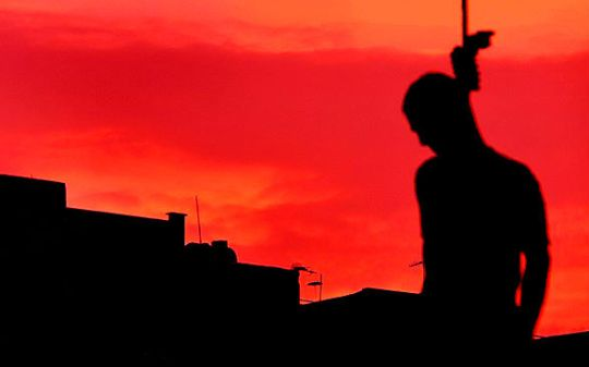 hanging silhouette Capture