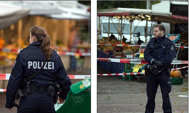 german police guard street Capture